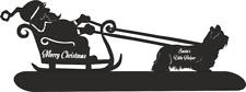 More details for skye terrier santa sleigh santa's little helper christmas ornament dog breed