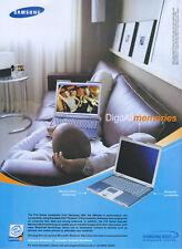 Samsung P10 Series Notebooks 2003 Magazine Advert #3170