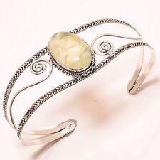 WINSOME PREHNITE DESIGNER CUFF Jewelry BRACELET Adjustable C-24