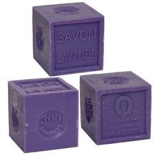 Savon de Marseille 3 x 300g - French Soap Cubes made with Essential Lavender Oil