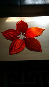 "Metal wall art flower Large outdoor home decor 20"" plasma cut gift idea Décor"
