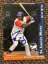 DOMINIC SMITH Signed 2015 St. Lucie Mets Team Set Card In Person AUTO rare qty