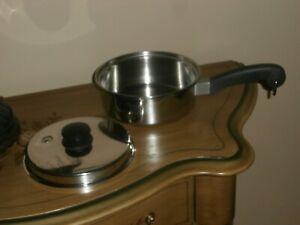 "Saladmaster Cookware 8"" Saucepan with Vapo Lid  Stainless Steel USA"