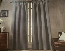 "Waterford Linens Window Panels NEW 50 X 96"" Charcoal Gray"