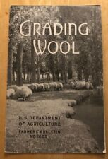 RARE 1939 US Department of Agriculture Farmers Bulletin Grading Wool Sheep 23Pgs