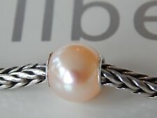 AUTHENTIC TROLLBEADS Pink Pearl BEAD a nice Fall Peachy Pink tone (ONE BEAD) NEW