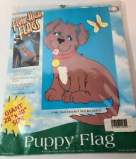 "Flying High Flags Puppy dog Outdoor Nylon garden yard house 28"" X 40"" New"