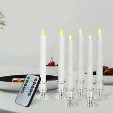 6pcs Valentine's Day Romantic Flameless LED Electronic Candle Light Remote Timer