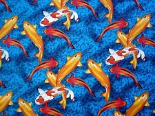 "Bright ""Fish Tale"" Cotton Fabric (x 0.4 metres)"