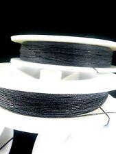 (1) Solid Black Genuine Irish Linen Single Pool Billiard Cue Wrap Spool