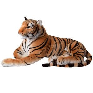 TE-Trend XXL Lion Grand Chat Animaux en Peluche 160cm Tissu Allongé Braun