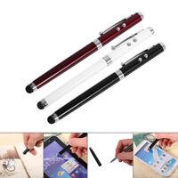 New 4 in 1 Laser Pointer LED Flashlight Touch Screen Stylus Ballpoint Pen Phone