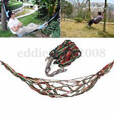 Outdoor Portable Travel Camping Hammock Garden Nylon Hang Mesh Sleeping Bed