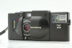 [Exc+5] Olympus XA Black Point & Shoot 35mm Film Camera W/A11 Flash From JAPAN