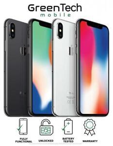 Apple iPhone X 64GB 256GB Unlocked Smartphone Good Condition