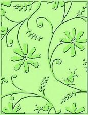 CUTTLEBUG embossing folder - STYLIZED FLOWERS REDUCED