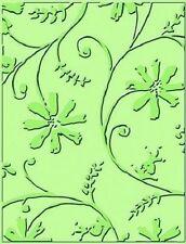 CUTTLEBUG embossing folder - STYLIZED FLOWERS REDUCED