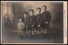 Photographie. Chamberlin Paris. Cinq frères. vers 1925