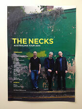 THE NECKS 2014 Australian Tour Poster A3 Open Mindset Drive By Sex Chemist *NEW*