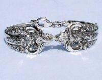 Wallace Grande Baroque Sterling Spoon Bracelet Handcrafted Artisan
