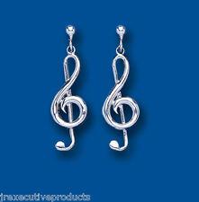 Violinschlüssel Ohrringe Musik Tropfen Sterling Silber Tropfen