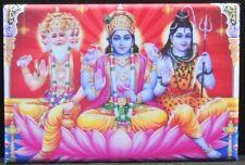 """Hindu Holy Trinity 2"""" X 3"""" Fridge Magnet. Shiva, Vishnu, Brahma"""