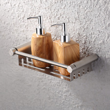 Wall Stainless Steel Brushed Nickel Shower Caddy Wire Basket Storage Shelves