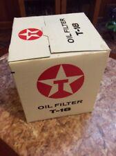 VINTAGE TEXACO T-18 OIL FILTER NOS Case Of 12