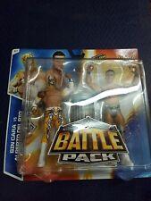 2014 WWE Battle Pack Figures Sin Cara Alberto Del Rio New Trash Can