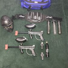 Lot 2 Tippmann 98 Custom Paintball Marker Gun complete working harness