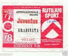 CALCIO   BIGLIETTO  TICKET   INTER   JUVENTUS  CAMPIONATO   1977/78