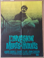 "AFFICHE CINEMA ""L'invasion des Morts-Vivants"" avec André Morell 1966"