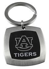 AUBURN UNIVERSITY TIGERS * Stainless Steel & Black Keychain w/School Logo * NCAA