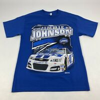 Vintage Jimmie Johnson Nascar Racing T Shirt Big Print Blue Medium Men's