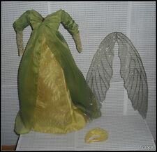 DRESS BARBIE  DOLL LEGENDS OF IRELAND QUEEN ELF FAIRY GREEN DRESS GOWN CLOTHING