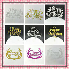 1pcs Happy Birthday Cake Topper Glitter Party Supply Event Decoration