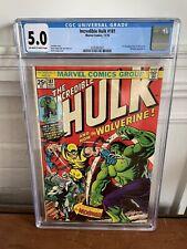 The Incredible Hulk Comic #181 ~ CGC Graded 5.0 ~ 1st Wolverine ~ (1974 Marvel)