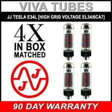 New Ip Matched Quad (4) JJ Tesla E34L [Special High Grid Volt EL34 6CA7] Tubes