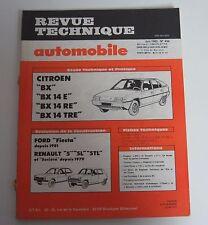 Revue technique automobile RTA 434 Citroën BX BX 14 E BX 14 RE BX 14 TRE