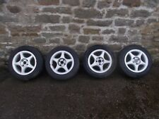 SEAT IBIZA 2001 SET OF ALLOY WHEELS WITH TYRES - 185/60/R14