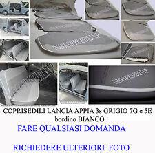 APPIA LANCIA APPIA 3°S COPRISEDILI  GRIGIO 7G e 5E brd BIANCO o personalizzato