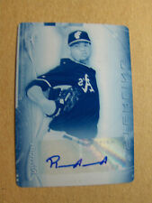 RAUL ALCANTARA 2014 BOWMAN STERLING RC AUTO PRINTING PLATE 1/1, OAKLAND A'S