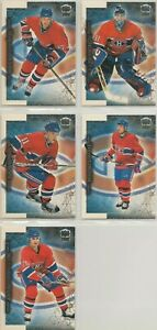 MONTREAL CANADIENS ~ 1999-00 PACIFIC DYNAGON ICE Team Lot / Set ~ 5 Hockey Cards