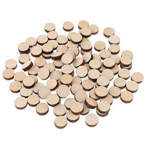 100pcs 16mm Unfinished Wooden Round Circle Discs Embellishment for Art Craft