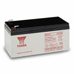 GENUINE YUASA NP2.8-12, 12v 2.8Ah - 2.8Ah & 3.2Ah Burglar Alarm Battery