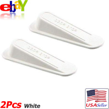 2/Pack White AntiSlip Strong Rubber Door Stop Stoppers Wedges Housekeeping Tool