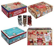 🎄🎁4 Styles Christmas Eve Box Christmas Gift Box Xmas Bows 26.5x17x8.5cm🎄🎁