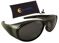 Polarized Fit Over Sunglasses Wear Over Glasses Driving Fishing Golf Men Women