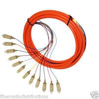 12-Strand OM1 62.5-Micron Multimode Fiber Optic Pigtail SC [3M] - 47382