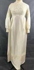 Vintage 60s Edythe Vincent for Alfred Angelo Romantic Modest Wedding Gown Dress